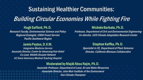 Thumbnail for entry Sustaining Healthier Communities: Building Circular Economies While Fighting Fire