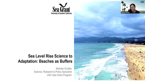 "Thumbnail for entry BML - Melodie Grubbs: ""Sea Level Rise Science to Adaptation: Beaches as Buffers"""