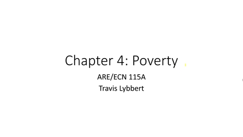 Thumbnail for entry ARE/ECN 115A:  Poverty