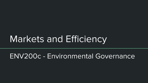 Thumbnail for entry env200c markets and efficiency