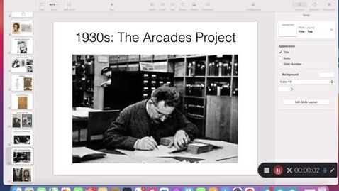 Thumbnail for entry His 147C Lecture 6C: Walter Benjamin, Pt. 2