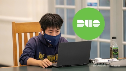 Thumbnail for entry Completing your enrollment in Duo