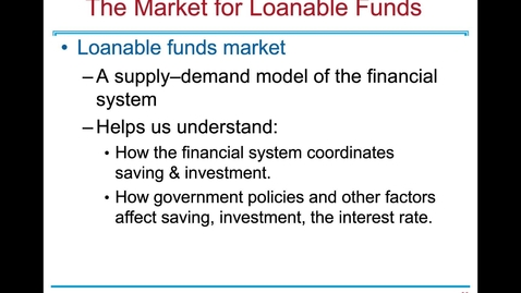 Thumbnail for entry ECN 1B: Lecture 8 - Savings, Investment and the Financial System (Part 3 of 3)