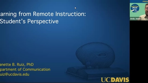 Thumbnail for entry SITT 2021 - Learning from Remote Instruction: A Student's Perspective