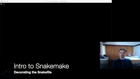 Thumbnail for entry Intro to Snakemake: Part Two