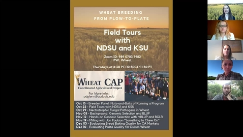 Thumbnail for entry WheatCAP Webinar Session Two - Field Tours of NDSU & KSU
