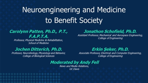Thumbnail for entry Neuroengineering and Medicine to Benefit Society
