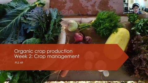 Thumbnail for entry PLS49: Week 2  Organic veg production basics and seeding