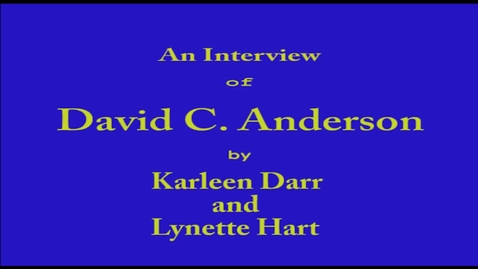 Thumbnail for entry David Anderson