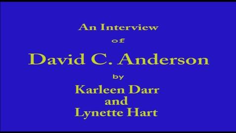 Thumbnail for entry David Anderson