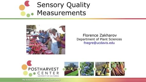 Thumbnail for entry Sensory Quality Measurements - (Zakharov)