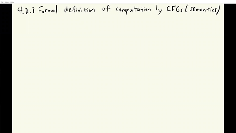 Thumbnail for entry ECS 120 2b:3 formal definition of CFG semantics