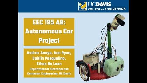 Thumbnail for entry EEC 195B: Autonomous Car Project (Team 3)