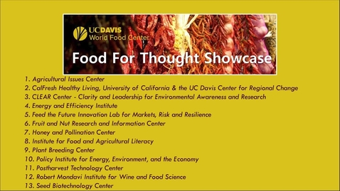 Thumbnail for entry World Food Center's Food For Thought Showcase - November 10, 2020