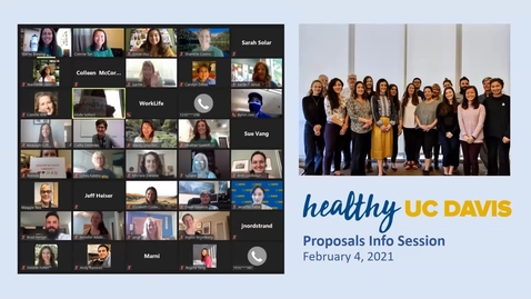 Thumbnail for entry Healthy UC Davis 2021 Proposals Informational Session