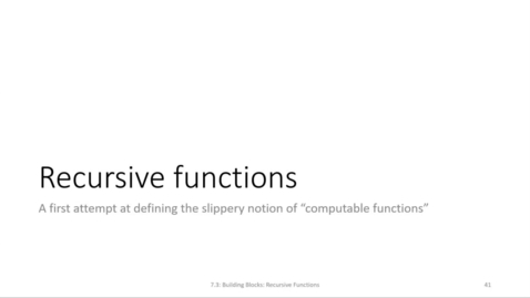 Thumbnail for entry ECS 220 7b:7.3-1 primitive recursive functions and Bloop