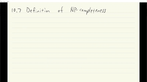 Thumbnail for entry ECS 120 8c:3 definition of NP-completeness
