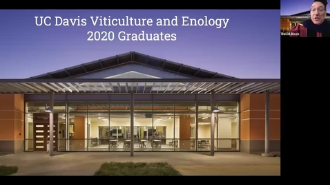 Thumbnail for entry UC Davis Viticulture and Enology Virtual Graduation and Awards Ceremony (6/12/20)