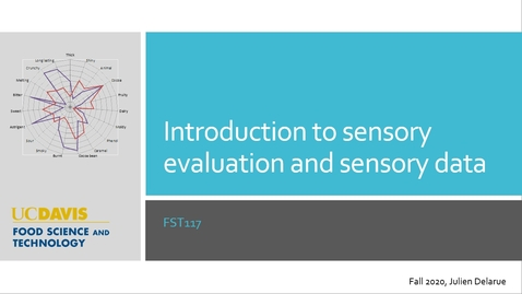 Thumbnail for entry FST117_L1_Introduction to sensory evaluation and sensory data