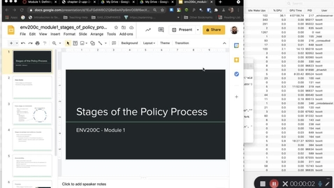 Thumbnail for entry ENV200C - Stages of the Policy Process