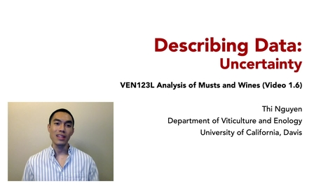 Thumbnail for entry VEN123L Video 1.6 - Describing Data - Uncertainty