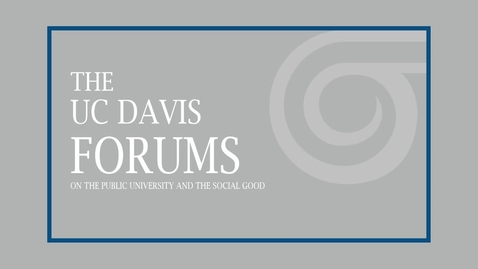 Thumbnail for entry The UC Davis Forums on the Public University and the Social Good - Charles Clotfelter - March 14, 2019
