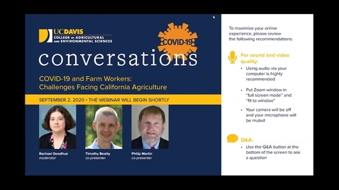 Thumbnail for entry COVID-19 and Farm Workers: Challenges Facing California Agriculture