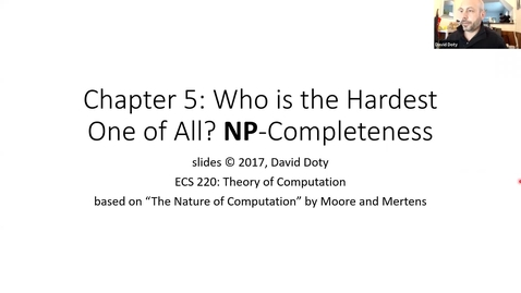 Thumbnail for entry ECS 220 2b:5.1 NP-completeness and reductions