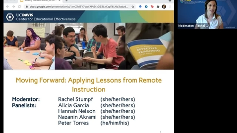 Thumbnail for entry CEE Graduate Student Workshops - Moving Forward: Applying Lessons Learned from Remote Instruction (Roundtable Discussion)