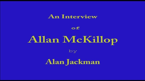 Thumbnail for entry Allan  McKillop