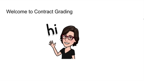 Thumbnail for entry SITT 2021 - What is Contract Grading?