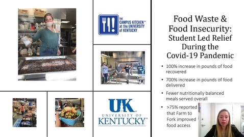 Thumbnail for entry UFWH 2021 - Jordan Hinton_Food Waste and Insecurity_ Student Led Relief During the Covid-19 Pandemic