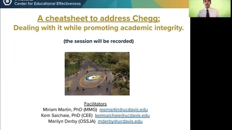 Thumbnail for entry CEE Faculty Workshop - A cheatsheet to address Chegg: Dealing with it while promoting academic integrity