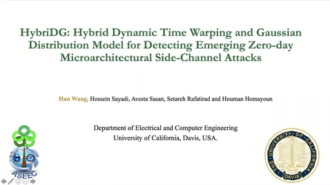 Thumbnail for entry HybriDG: Hybrid Dynamic Time Warping and Gaussian Distribution Model for Detecting Emerging Zero-Day Microarchitectural Side-Channel Attacks