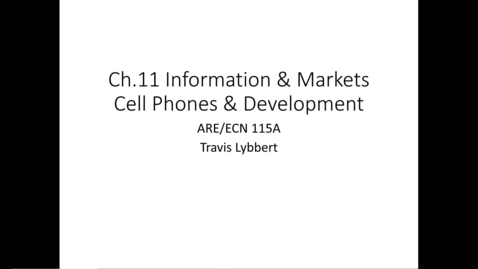 Thumbnail for entry ARE/ECN 115A:  Information & Markets (1)
