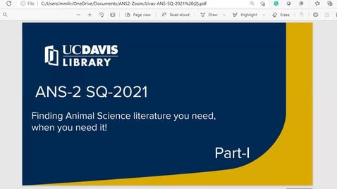 Thumbnail for entry ANS_2_SP21_Orientation_to_Library_Resources-PART-I