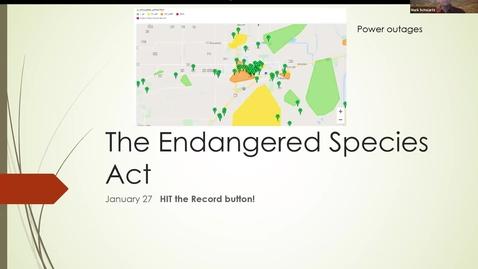 Thumbnail for entry ESP170 Jan 27 L7 Endangered Species Part 2