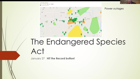 Thumbnail for entry ESP170 Jan 27 L7 Endangered Species Part 2