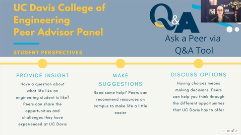 Thumbnail for entry College of Engineering Orientation 2020 Peer Advisor Panel