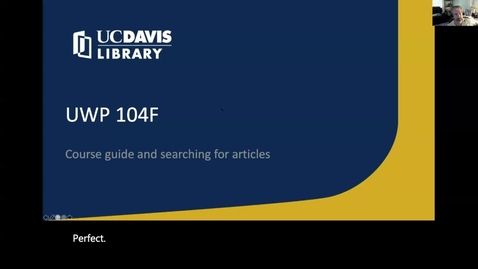 Thumbnail for entry UWP 104F Library tour of course guide and databases