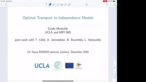 Thumbnail for entry Guido Montufar: Optimal Transport to Independence Models
