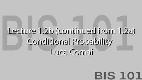 Thumbnail for entry Lec1.1.2. Conditional probability.