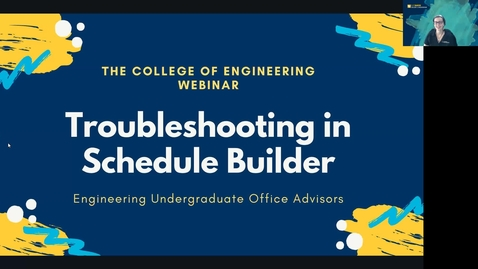 Thumbnail for entry Troubleshooting  Schedule Builder Webinar 7.19.21