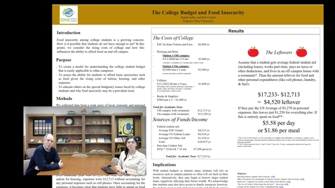 Thumbnail for entry UFWH 2021 - Bekah Selby_Rob Catlett_College Budget and Food Insecurity