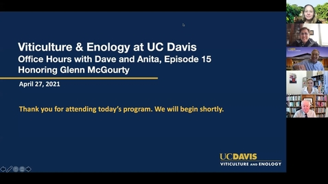 Thumbnail for entry Office Hours with Dave and Anita, Episode 15: Honoring Glenn McGourty