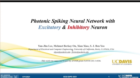 Thumbnail for entry Photonic Spiking Neural Network with Excitatory & Inhibitory Neuron