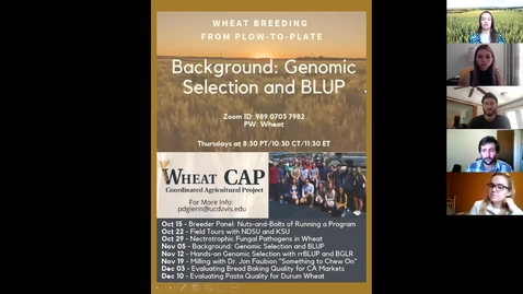 Thumbnail for entry WheatCAP Webinar Session Four - Genomic Selection Background
