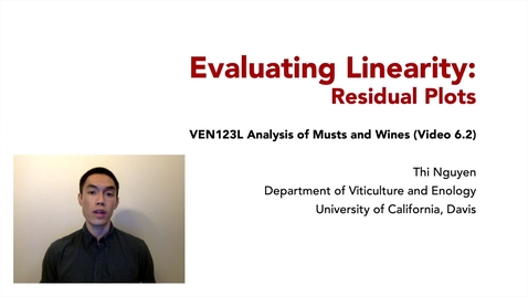Thumbnail for entry VEN123L Video 6.2 - Evaluating Linearity - Residual Plots