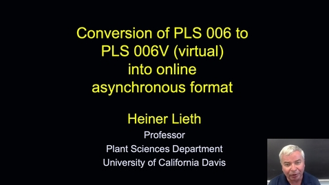 Thumbnail for entry SITT 2021 - Conversion of PLS006 to PLS006V into online asynchronous format