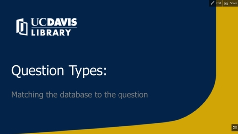 Thumbnail for entry VET 400 Library Module II: Question Types
